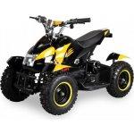 Goleto Dětská elektrická čtyřkolka ATV 800 W žlutá