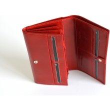 Valentini Dámská peněženka klasická se zipem na mince kožená červená 11 x 2 x 20 SV00-563895-00KUZ