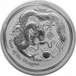 Lunární Stříbrná investiční mince Year of the Dragon Rok Draka 1 Kg 2012