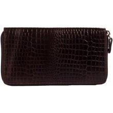Dámská kožená peněženka SL 3 tmavě Estelle hnědá