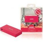 USB čtečka karet Paris, fuchsiová (NPCR1080-09)