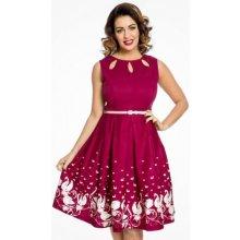 Lindy Bop dámské šaty Lily SWAN 982530 vínová d063ee29f6a
