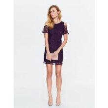 6fcf05269a5a Top Secret dámské krajkové šaty odhalená ramena fialová