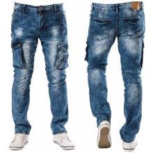 MID POINT kalhoty pánské KA8393 kapsáče jeans, jeans
