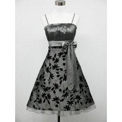 Plesové šaty Krátké plesové šaty retro stříbrná 9054738e55