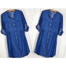 b6fe41869d2d Fashionweek dámské košilové džínové šaty hit MD57 600