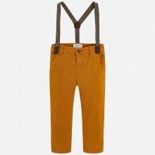 Mayoral chlapecké kalhoty s kšandami hnědé ee0033c485