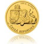 Česká mincovna Zlatá 1/25 oz investiční mince Český lev 2017 stand 1,24 g
