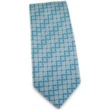 Světle modrá tyrkysová mikrovláknová kravata s atypickým vzorem 9f36c9f0e1