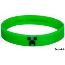 Minecraft silikonový náramek zelený 332959 CurePink
