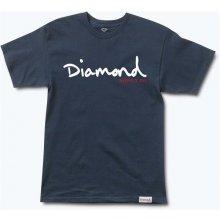 Diamond Og Script H17 Tee Navy NVY