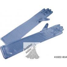 Dámské společenské rukavičky dlouhé SVĚTLE MODRÉ