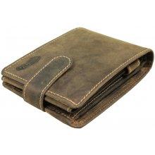 Nivasaža N55 HNT BR pánská kožená peněženka hnědá
