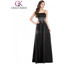 Grace Karin společenské šaty dlouhé CL4974-1 černá d08f726e33