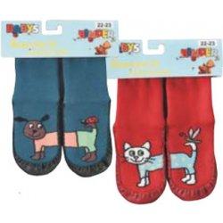 SOCKS 4 FUN 3139 dětské ponožky s koženou podrážkou 60c9e5d3d1