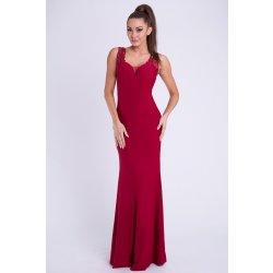 EMAMODA dámské luxusní dlouhé plesové šaty Eva   Lola bordó 85143819e3