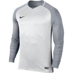 505f798e34e88 Fotbalový dres Nike Trophy III BÍLÁ Dětský dres s dlouhým rukávem