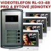 Videotelefon EMOS RL-03M-B4 pro 4 bytové jednotky, domácí barvný videotelefon (Ideální řešení pro větší rodiný dům nebo kanceláře)