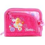 Peněženka Barbie 2 kapsy růžová s motivem panenky Barbie