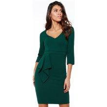 2a39ca671e1 CityGoddess pouzdrové šaty Zita tmavě zelená