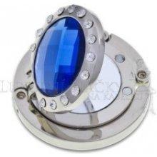 Háček na kabelku se zrcátkem - modrý