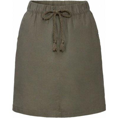 Esmara dámská lněná sukně khaki