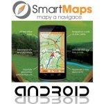 Smart Maps Navigator: auto, cyklo a turistická mapa Slovenska a Čech, Android