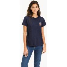 Tommy Hilfiger dámské tričko Graphic tmavě modré 8752342bd3
