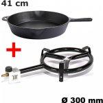 Paella SET hořák 7kW 30 cm, litinová pánev 35 cm s madlem Gastro