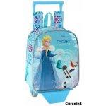 CurePink batoh na kolečkách Frozen Olaf 5,5l modrý