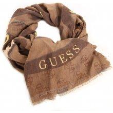 bed8d94d28d Guess dámský hnědý šátek se vzorem