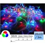 TFY NO34991 Vánoční LED osvětlení řetěz 20LED, 3m, barevná