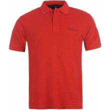 Pierre Cardin Plain Polo Shirt Mens Red