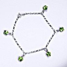 Swarovski krystaly chrizolit, kytičky, R 1297