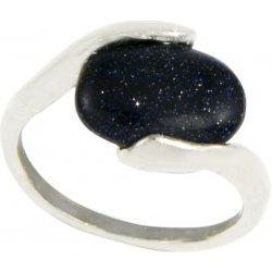 923f82cbb Prsten polodrahokam - avanturín modrý polodrahokam obecný kov polodrahokam  přírodní materiály s kamínkem PR0095-035731