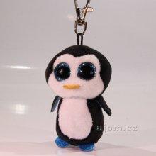 Přívěsek na klíče Plyš očka tučňák