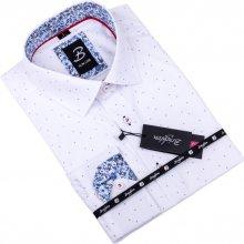a269be3475d1 Brighton pánská Košile slim fit Bílá s modrým vzorem 109901