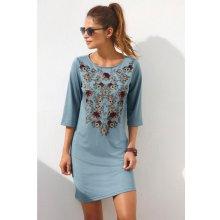Venca Krátké šaty s potiskem květin modrá