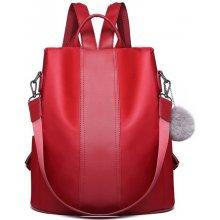 556734a80e Miss Lulu dámský elegantní batoh limba burgundská červená