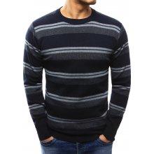 Pánský modrý pruhovaný svetr (wx1013)