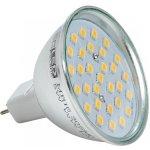 Superled LED žárovka GU5.3 MR16 napětí 230V 5W 450lm teplá bílá 2800-3300k