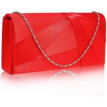 7835f38d409 Satin Clutch Evening bag červené LSE00328A RED