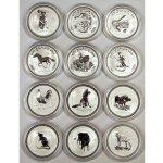 Lunární Kompletní sada serie I. 12x1oz stříbrných mincí 19992010