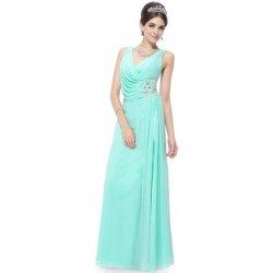 36fe26fa83e1 Tyrkysově modré dlouhé elegantní svatební plesové šaty na ples či na svatbu