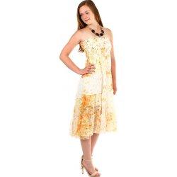 YooY dámské letní volné šaty s potiskem oranžová od 389 Kč - Heureka.cz 1ea9cd71f0