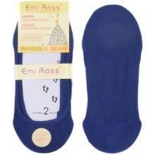 Emi Ross dámské neviditelné ponožky do balerín modrá