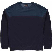 Pierre Cardin Block Knit Sweater pánské Navy/Teal