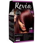 REVIA barva na vlasy 08 CHERRY Višeň 50 ml + 20 ml + 50 ml