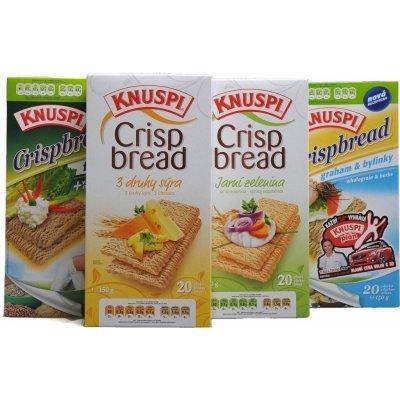 Extrudo Knuspi Crispbread 3 druhy sýra 150 g