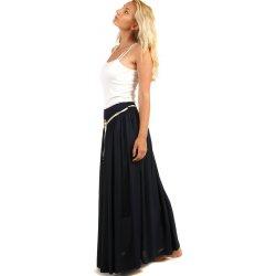 d4f2686ee8d2 YooY dámská romantická letní maxi sukně 59SE81 tmavě modrá ...